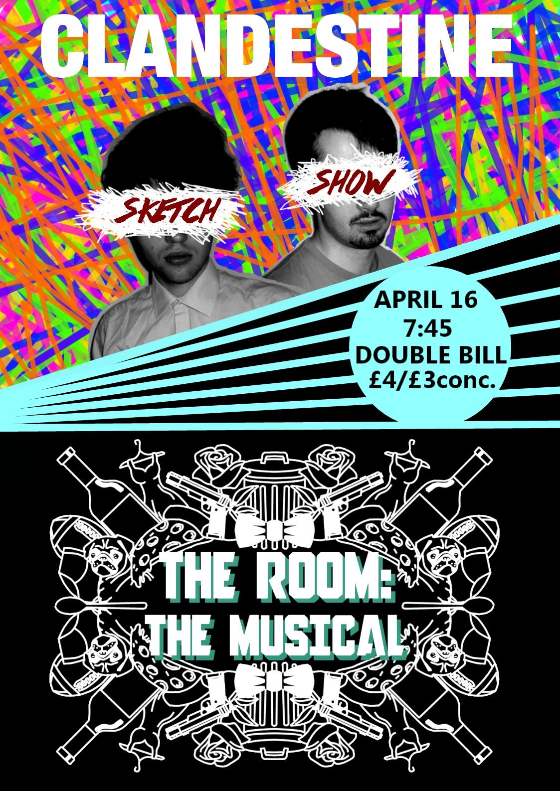 Review: Clandestine Sketch Show/ The Room: The Musical