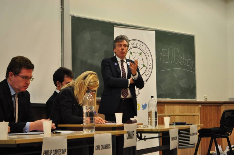 """Victory for """"In"""" campaign as PolSoc hosts first EU debate"""