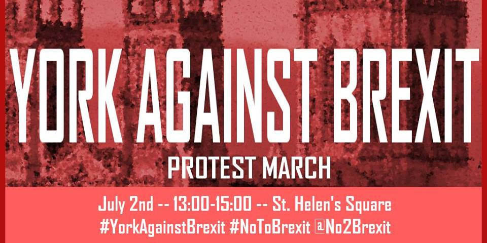 1.5 thousand interested in Anti-Brexit march led by York student
