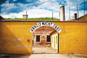 """""""Labour makes you free"""": Theresienstadt ghetto, where the play, Smoke at Home was originally written in Czech. Photo credit: Norto"""