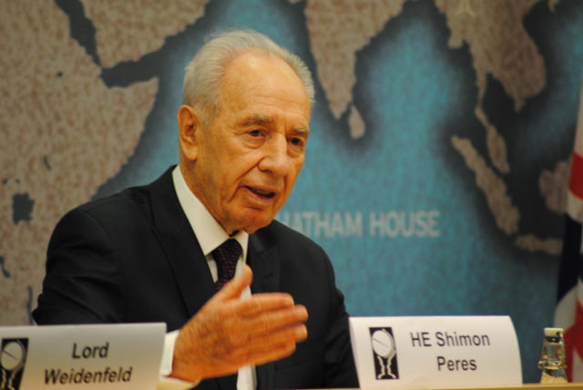 Shimon Peres speaking at Chatham House, 2011, Photo: Chatham House
