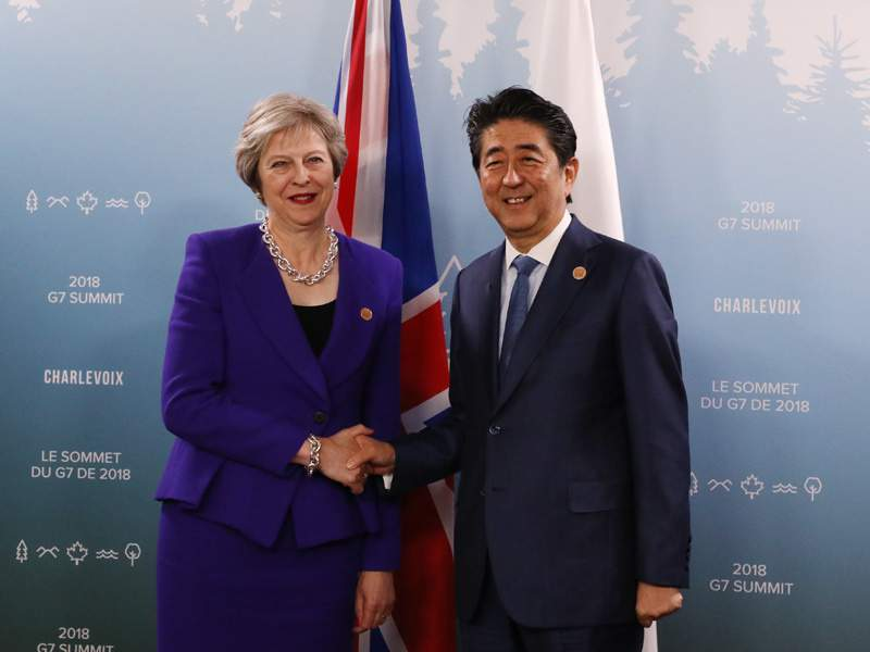 Japanese PM visits the UK