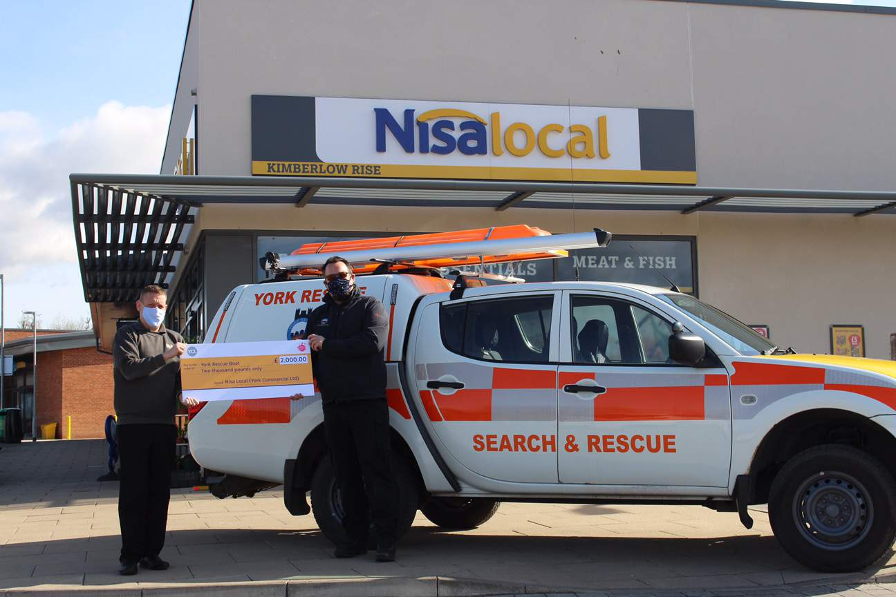 Nisa donates £2000 to York Rescue Boats