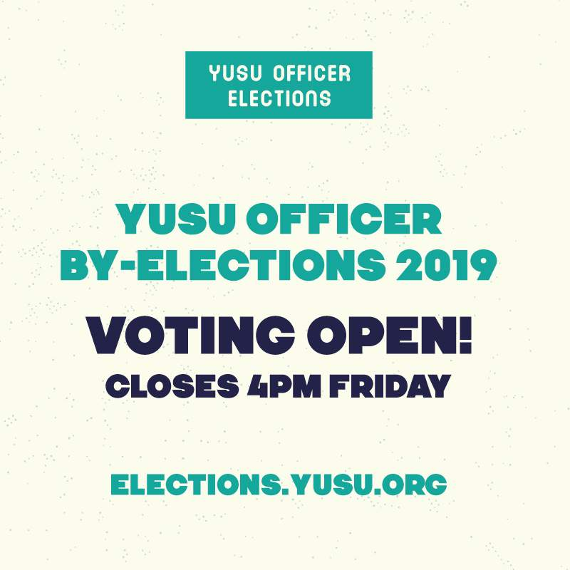 Voting open for YUSU by-elections