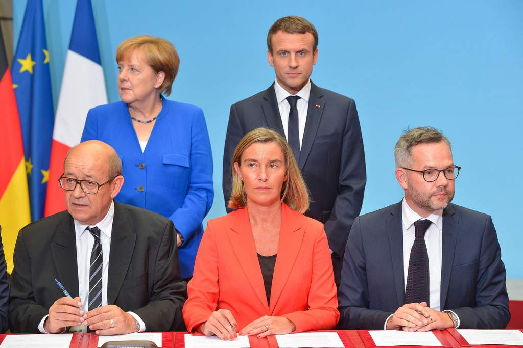 Macron and Merkel to create Franco-German superpower