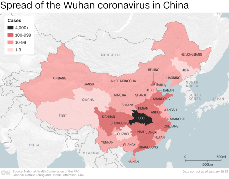 Effects of coronavirus hit the Chinese economy
