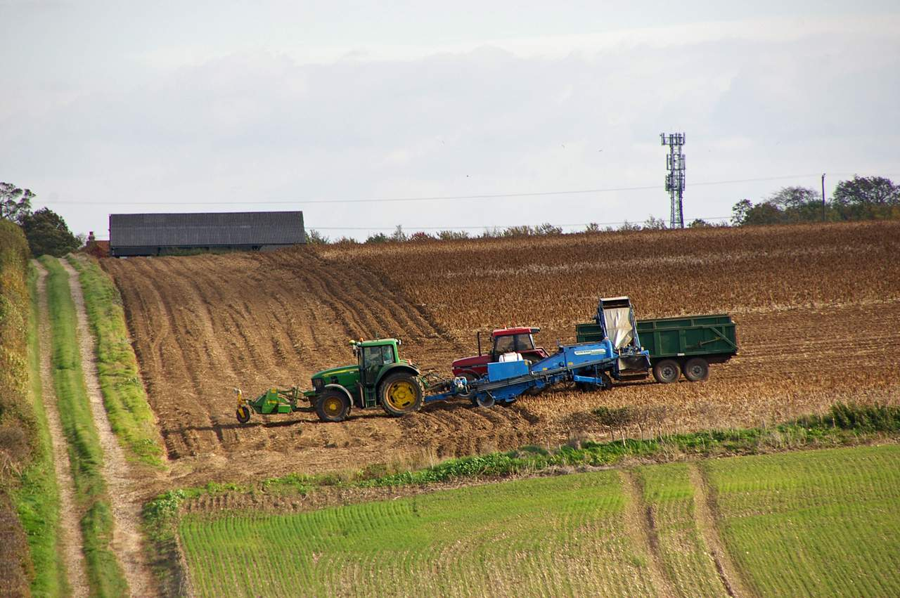 British Farming ploughs on